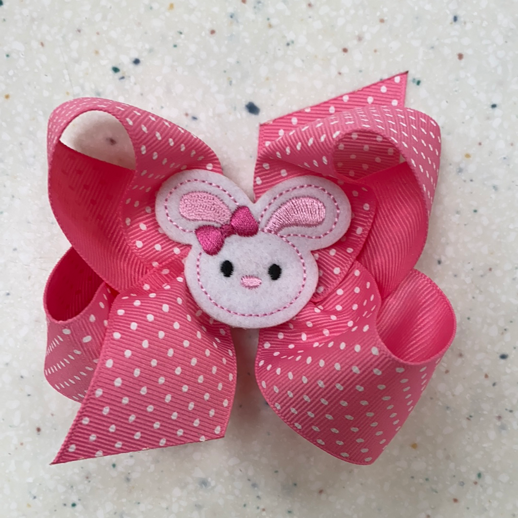 Easter Bunny Bow  - Doodlebug's Children's Boutique