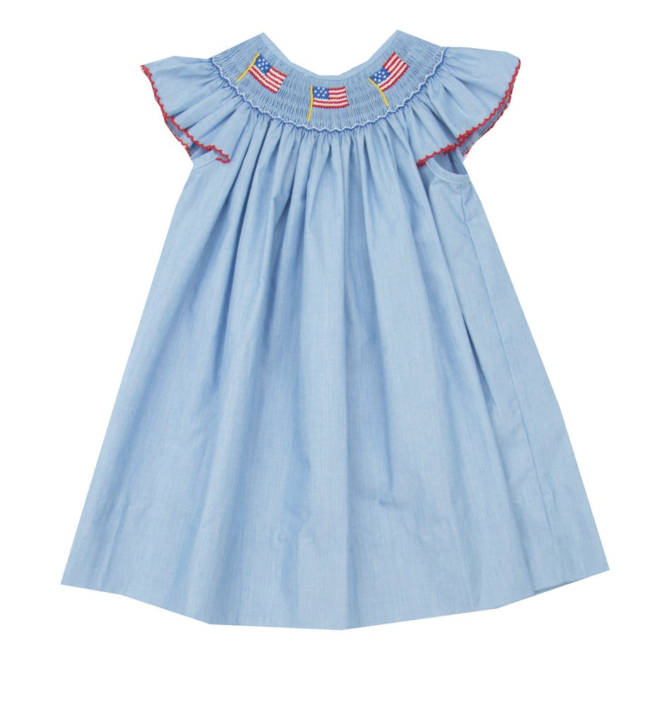 Petit Bebe Flag Smocked Dress