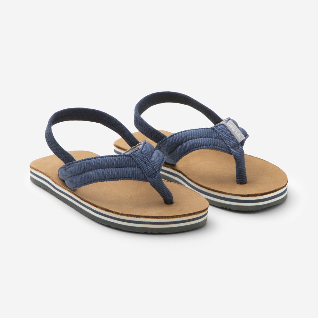 Indigo Tan Boy Scouts Flip Flops  - Doodlebug's Children's Boutique