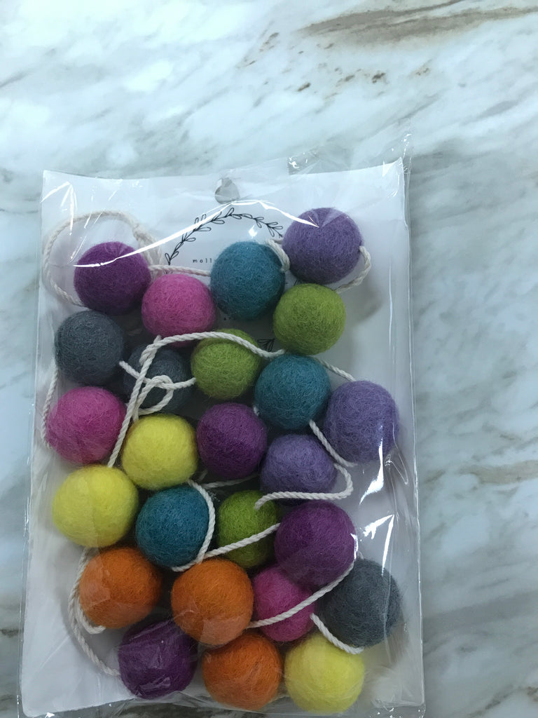 Molly Hayes & Co. Felt Ball Garland