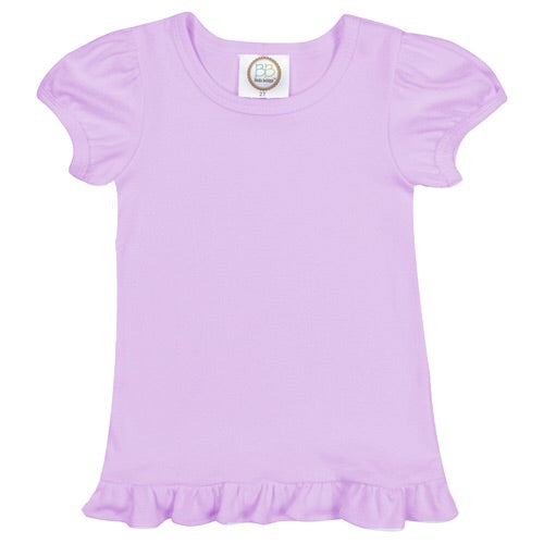 Blanks Boutique Ruffle Tee Lavender / 2T - Doodlebug's Children's Boutique