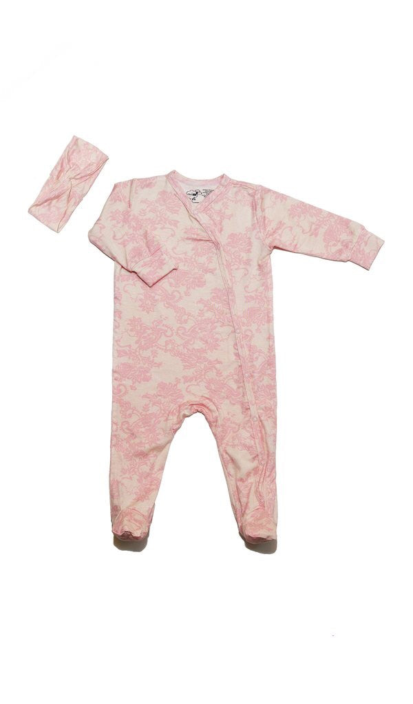 Baby Grey Footie Two-Piece