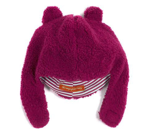 Raspberry Magnetic Fleece Hat Raspberry / 0-6 months - Doodlebug's Children's Boutique