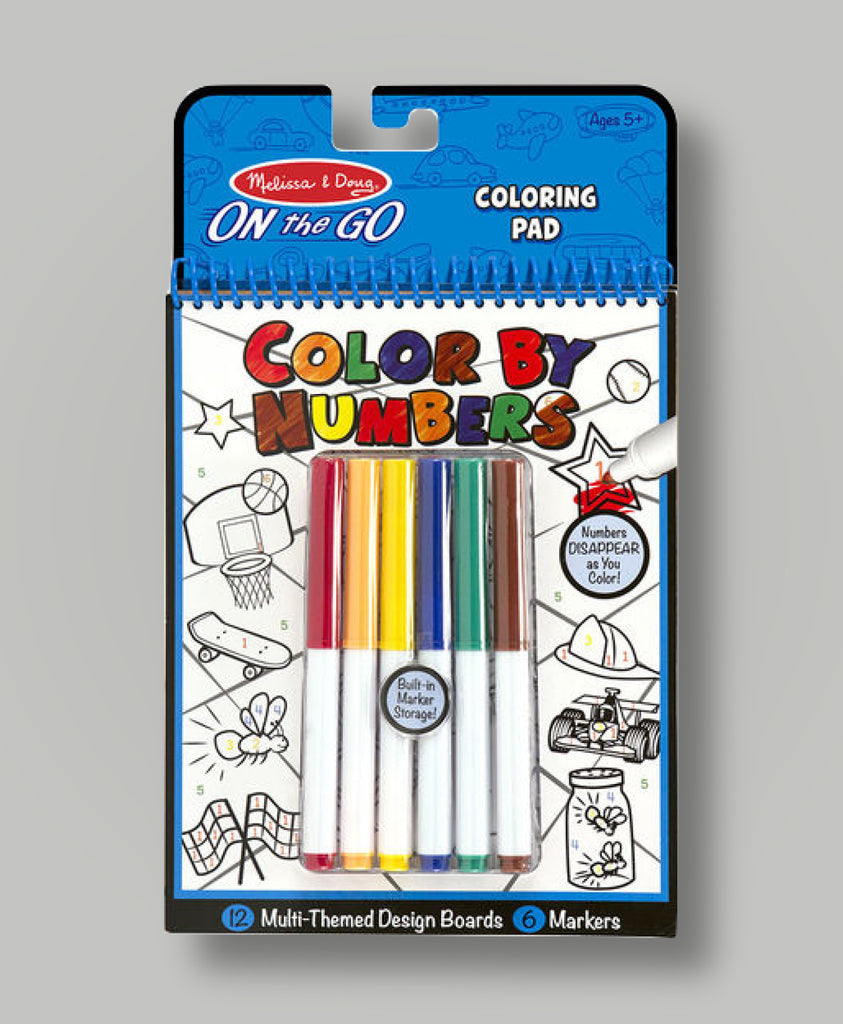 Color by Numbers Blue Coloring Pad  - Doodlebug's Children's Boutique