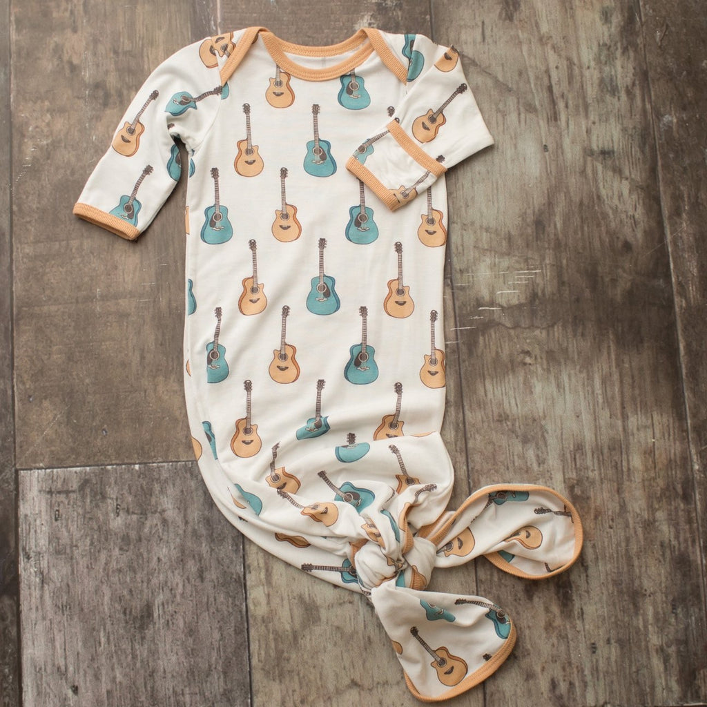 Guitar Knot Gown  - Doodlebug's Children's Boutique