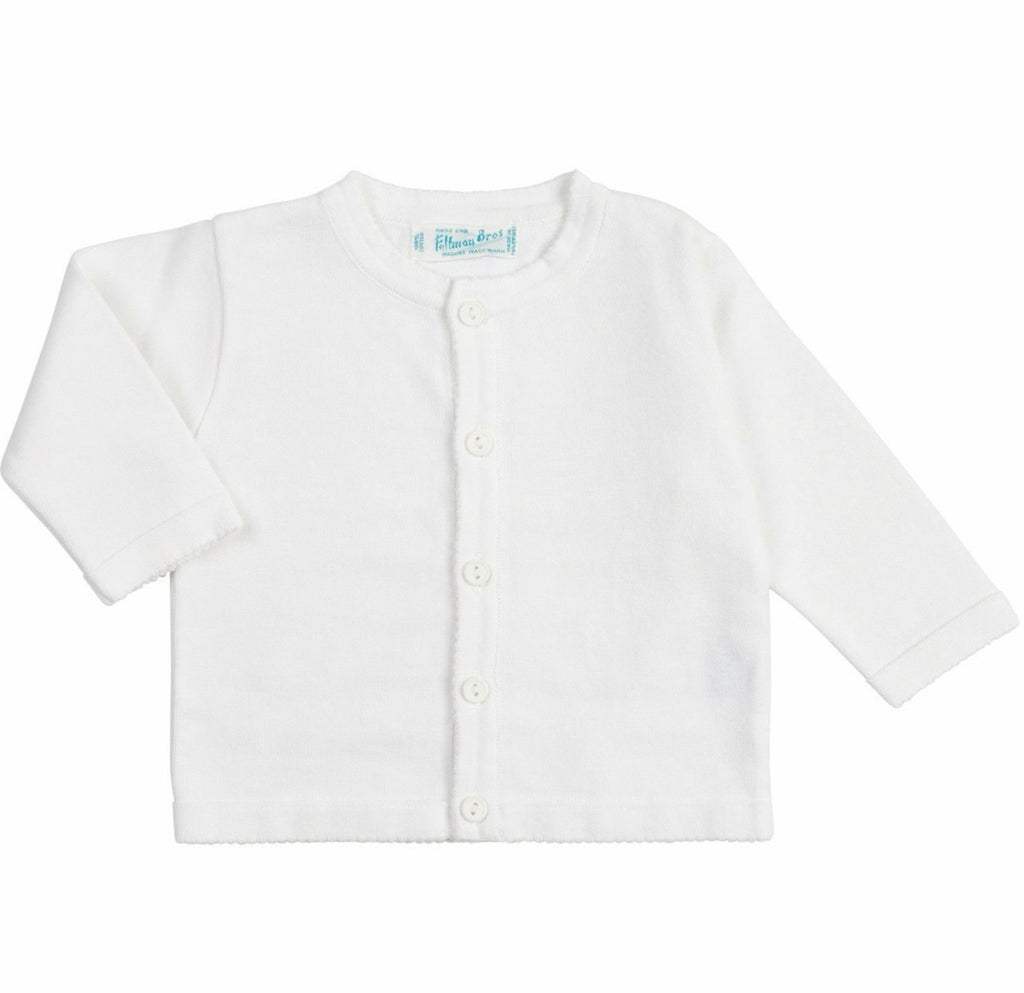 Classic Knit Cardigan in White  - Doodlebug's Children's Boutique