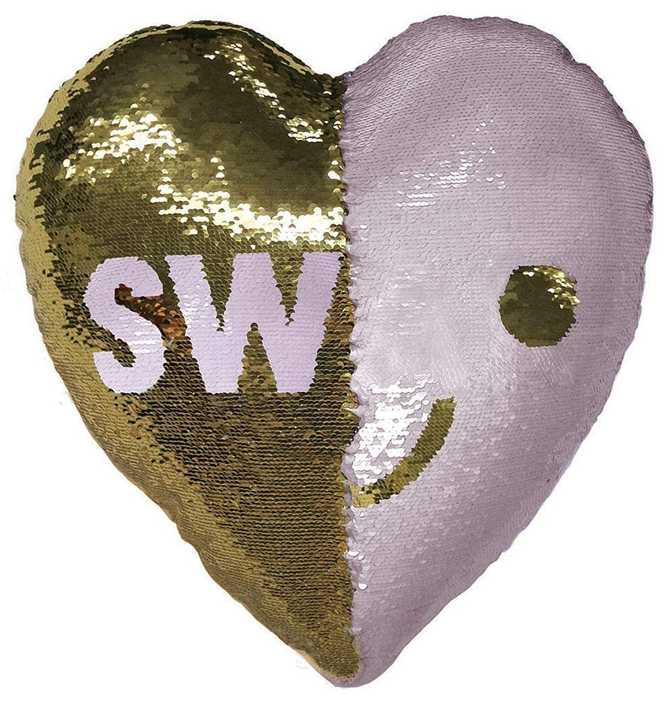 SWAK Sealed With A Kiss Reversible Sequin Pillow  - Doodlebug's Children's Boutique