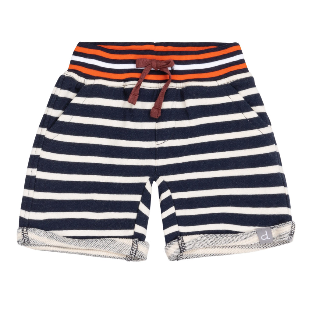 Striped French Terry Shorts  - Doodlebug's Children's Boutique
