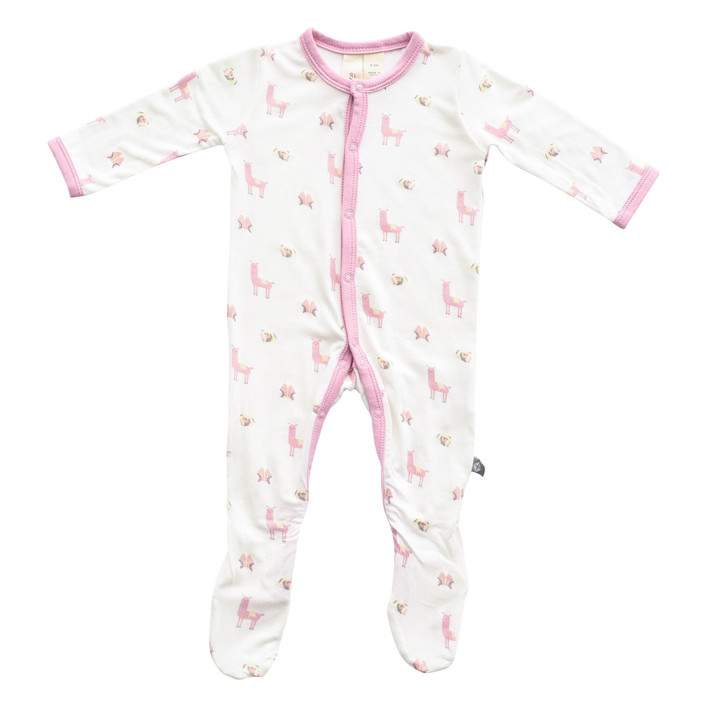 Kyte Baby Printed Footie Peruvian / 0-3 months - Doodlebug's Children's Boutique