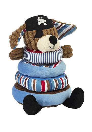 Maison Chic Patch Pirate Dog Stacking Toy