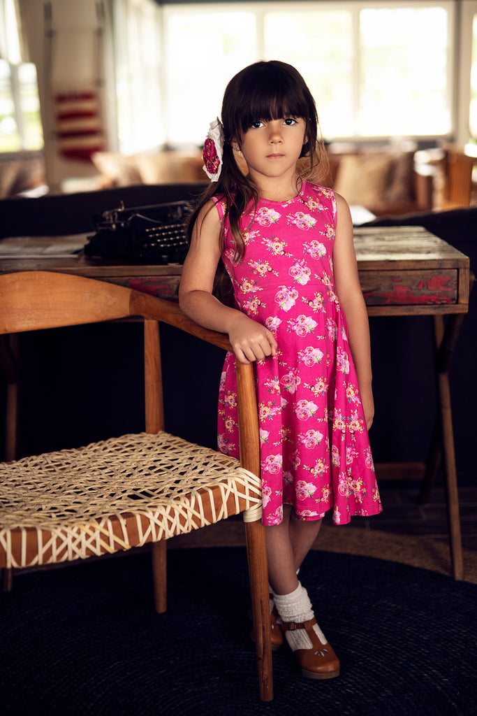 Lala Dress in Day Dream  - Doodlebug's Children's Boutique