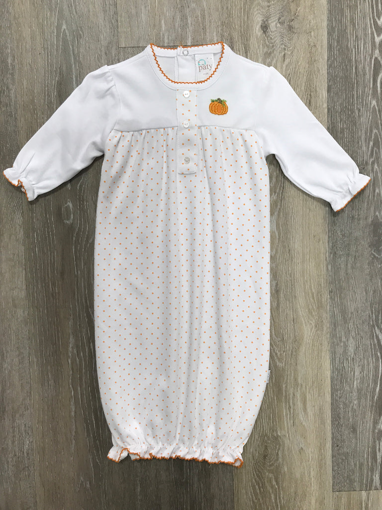 Paty Mini Dot Pumpkin Gown  - Doodlebug's Children's Boutique
