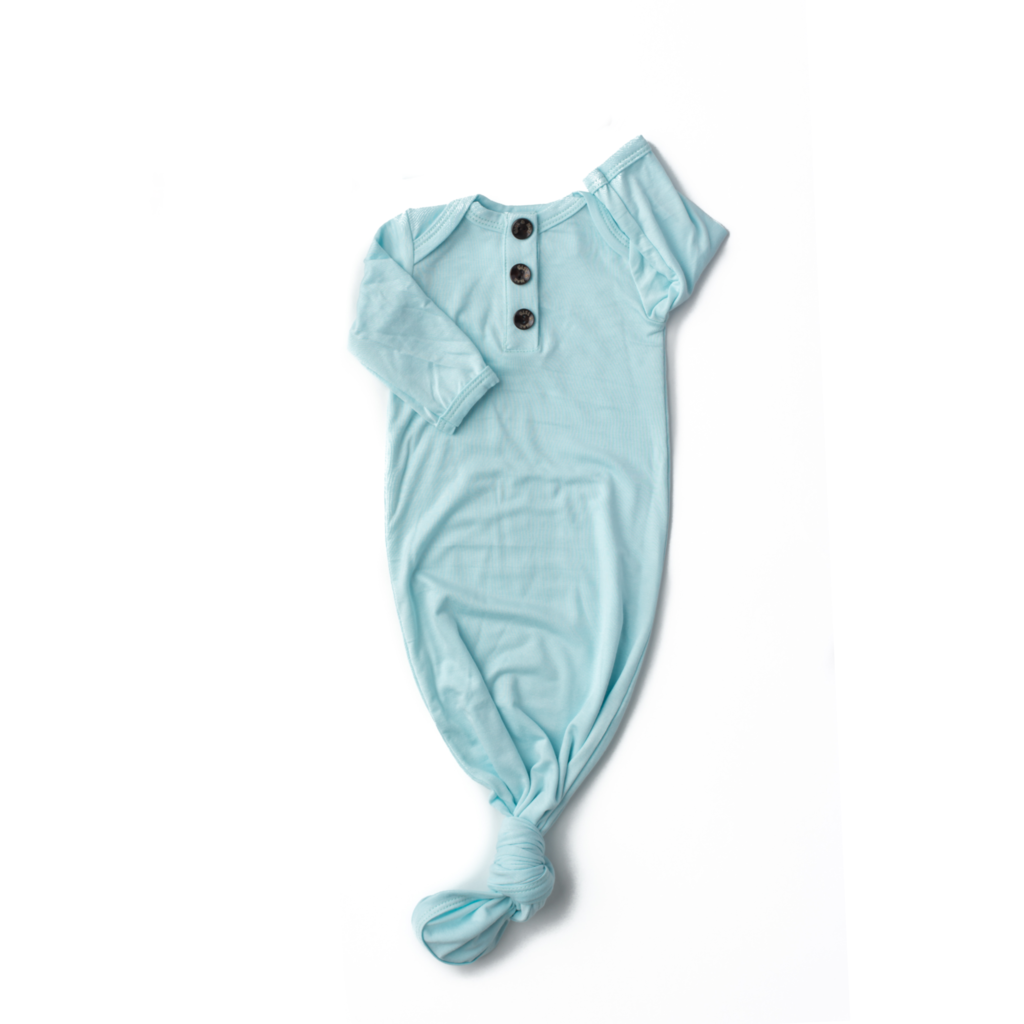 Theo Signature Tie Button Gown  - Doodlebug's Children's Boutique