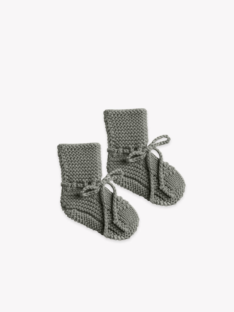 Knit Booties in Eucalyptus  - Doodlebug's Children's Boutique