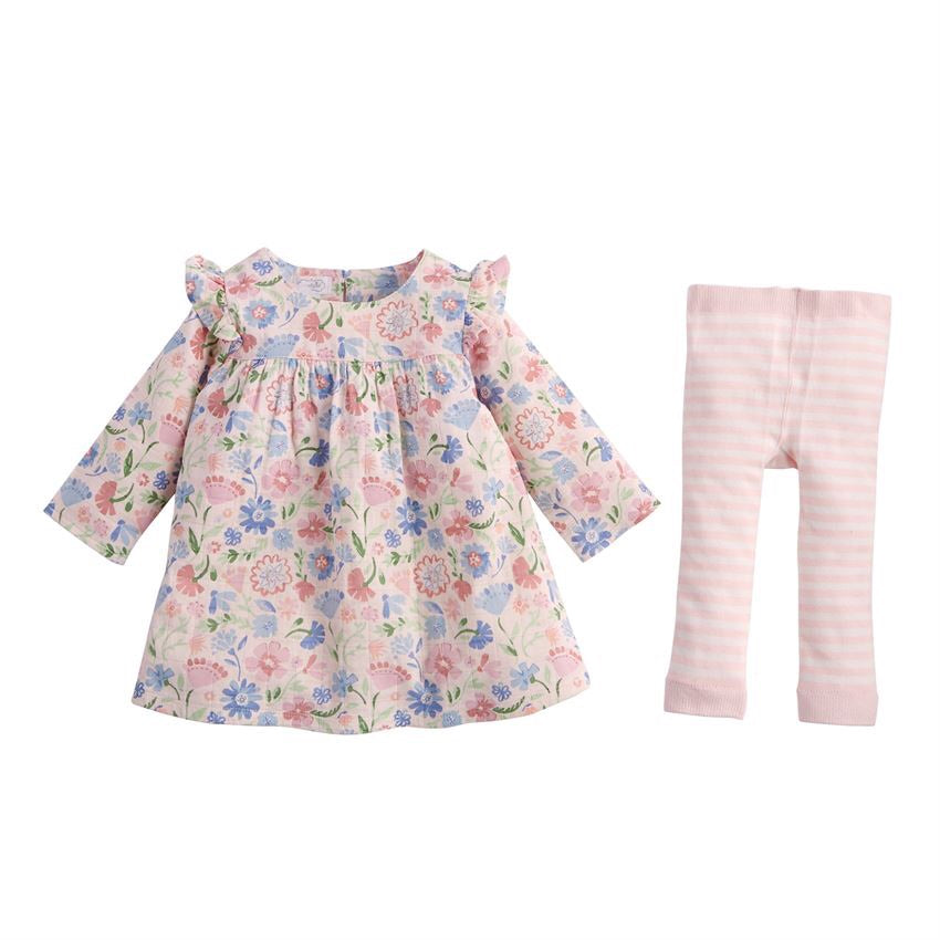 Mud Pie Floral Muslin Dress Set