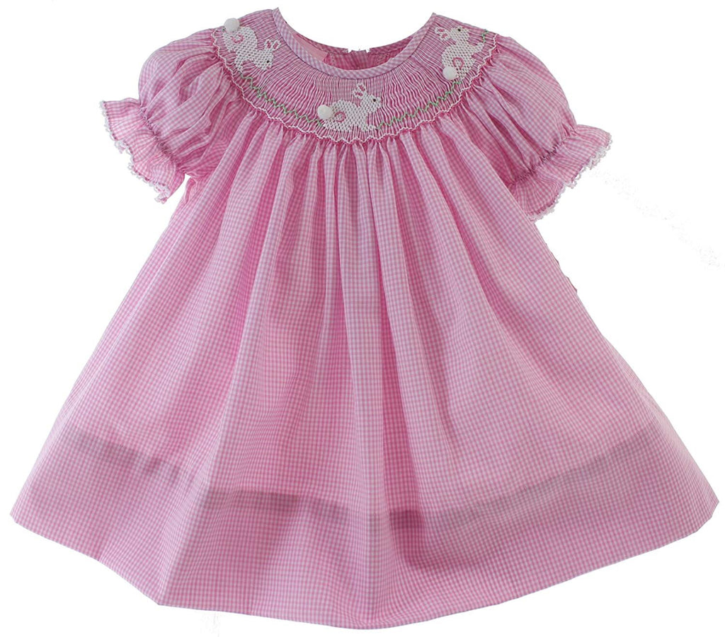 Petit Bebe Pink Easter Dress