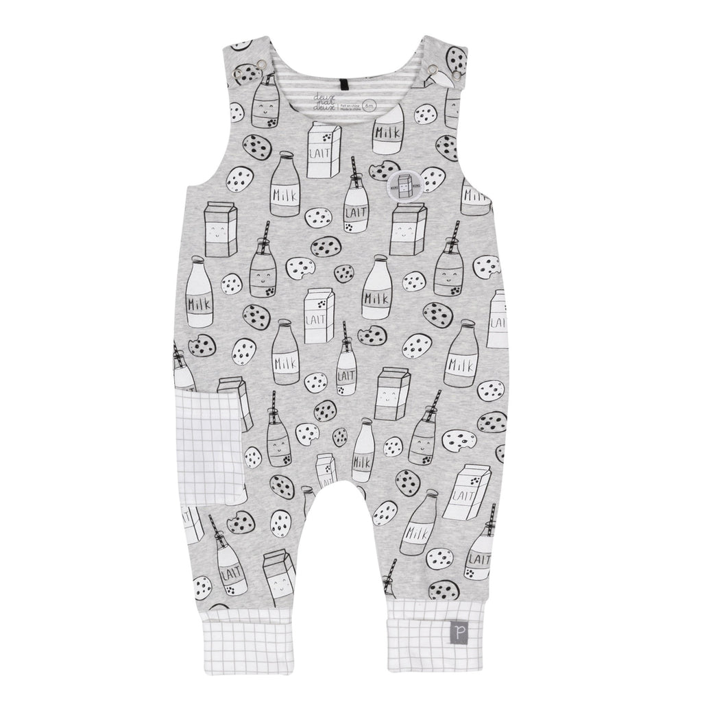 Milky Tummy Evolutive Overalls  - Doodlebug's Children's Boutique