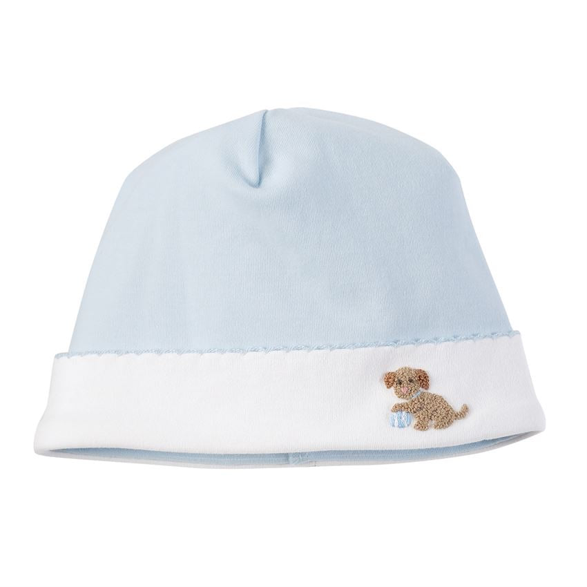 Blue French Knot Puppy Cap  - Doodlebug's Children's Boutique
