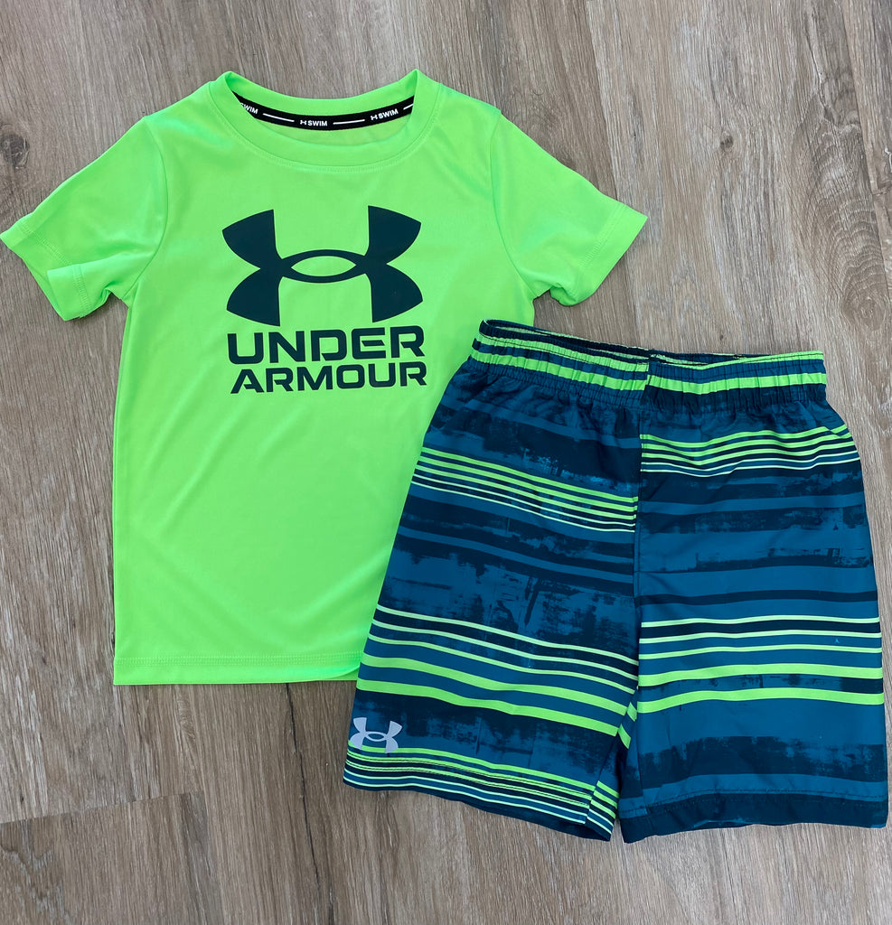 Hyper Green Swim Set  - Doodlebug's Children's Boutique
