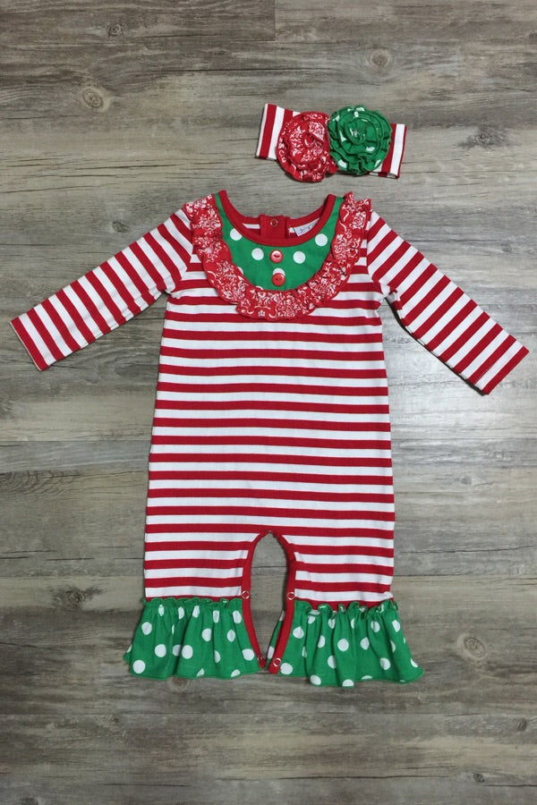 Serendipity Misteltoe Romper with Headband