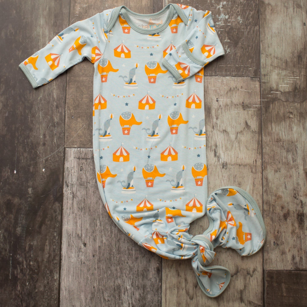Circus Knot Gown Circus Infant Collection Knot Gown / 0-3 months - Doodlebug's Children's Boutique