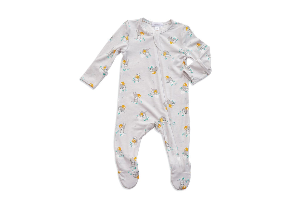 Sloth Zippered Footie  - Doodlebug's Children's Boutique