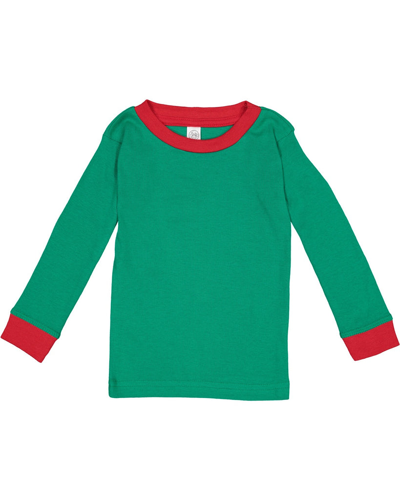 Green and Red Two Piece Pajamas  - Doodlebug's Children's Boutique