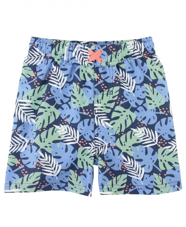 Paradise Palms Swim Trunks  - Doodlebug's Children's Boutique