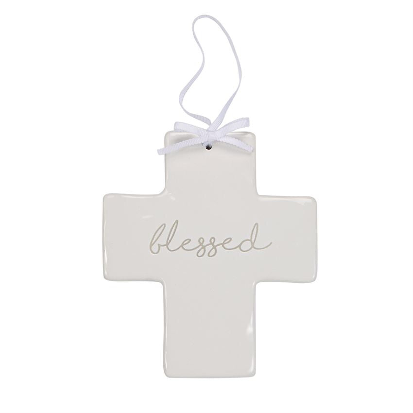Blessed Ceramic Cross  - Doodlebug's Children's Boutique