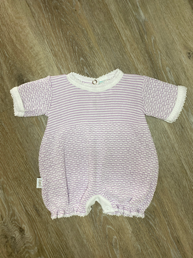 Lavender Stripe Bubble  - Doodlebug's Children's Boutique