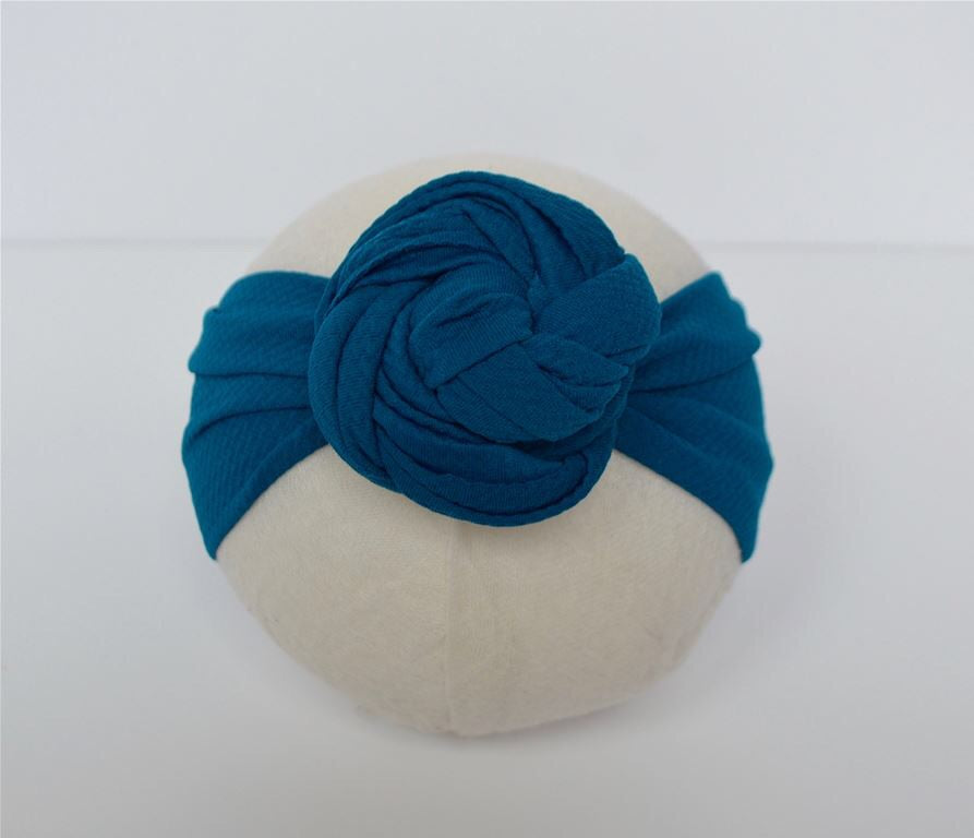 Teal Top Knot Headband Teal / Size 1 (newborn-6 months) - Doodlebug's Children's Boutique