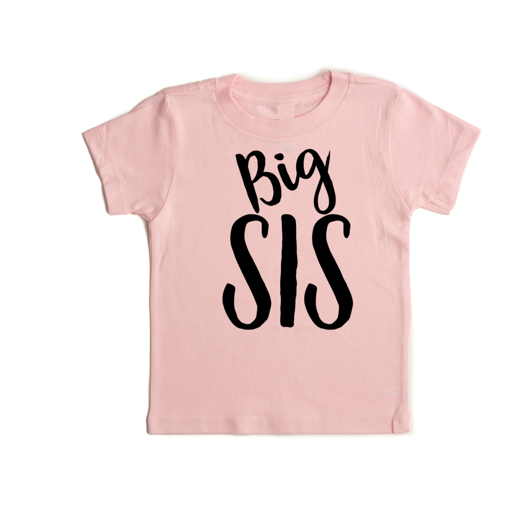 Big Sis Vinyl Tee  - Doodlebug's Children's Boutique