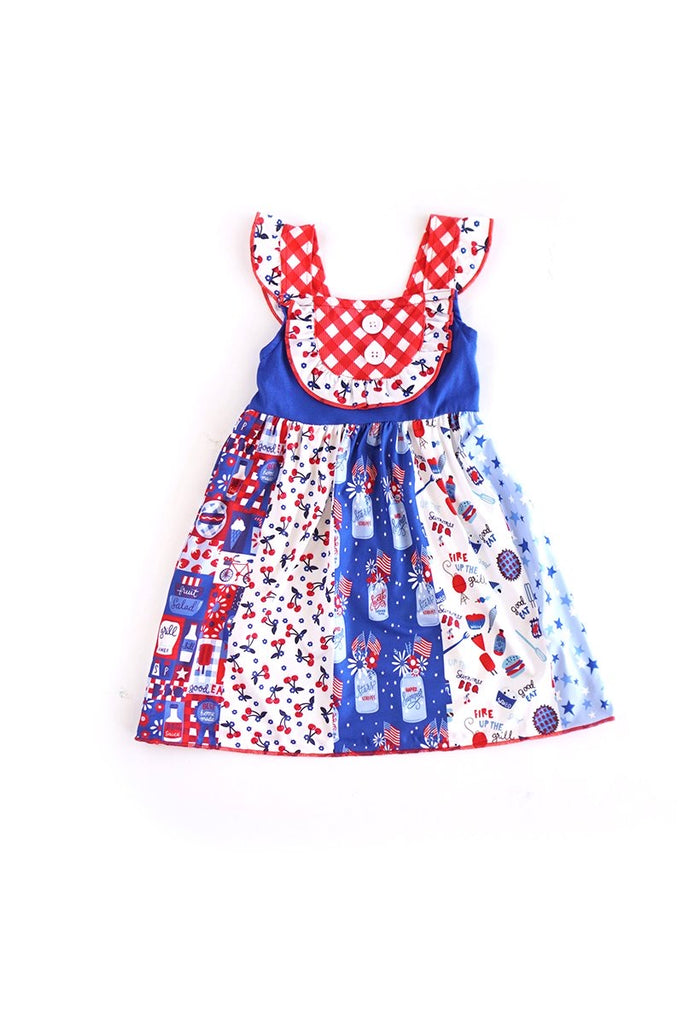 Patriotic Summer Dress  - Doodlebug's Children's Boutique