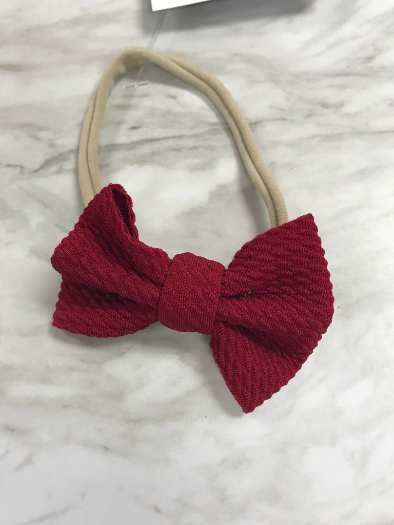 Red Bow Headband Red - Doodlebug's Children's Boutique