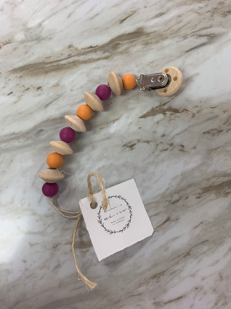 Molly Hayes & Co. Teething Bead Pacifier Clip