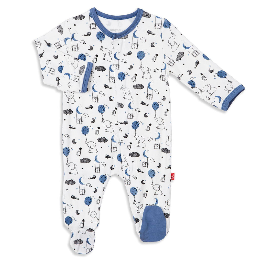 Blue Skylark Magnetic Modal Footie Preemie - Doodlebug's Children's Boutique