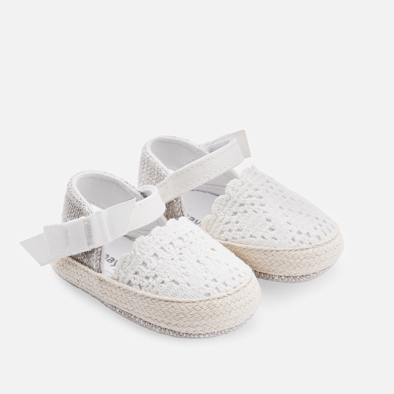 White Espadrille Sandals  - Doodlebug's Children's Boutique