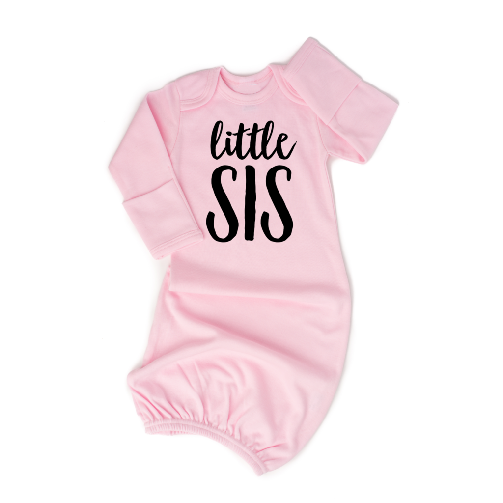 Little Sis Light Pink Gown  - Doodlebug's Children's Boutique