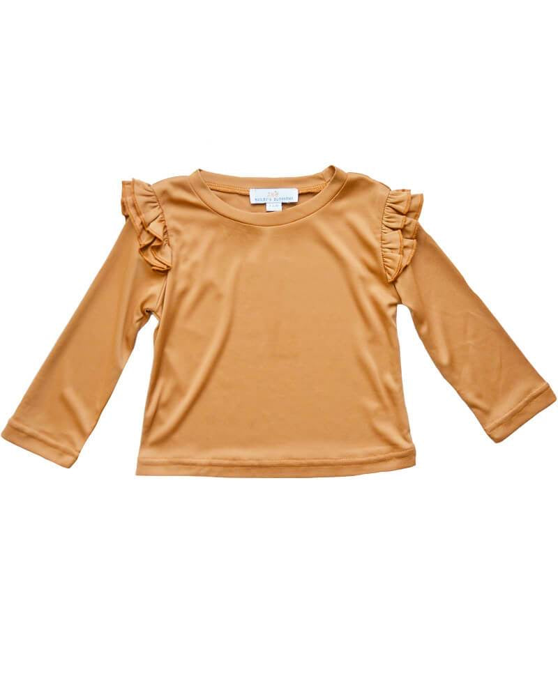 Pumpkin Spice Embry Top  - Doodlebug's Children's Boutique