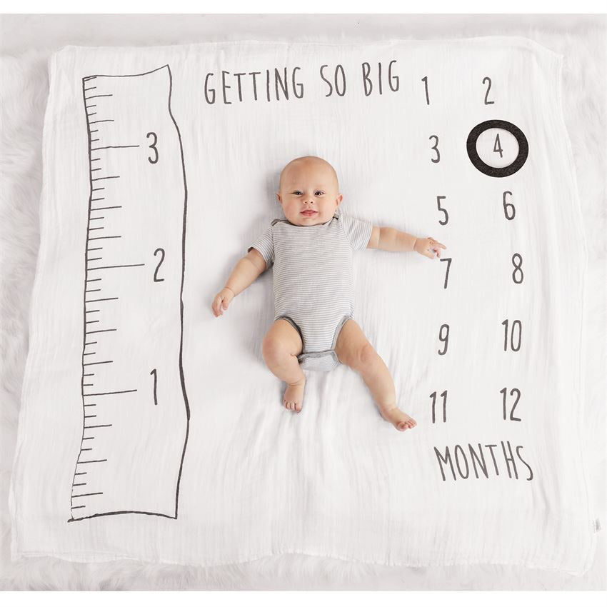 Muslin Watch Me Grow Photo Blanket  - Doodlebug's Children's Boutique