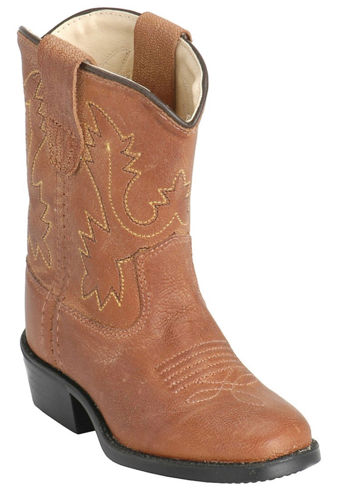 Old West Brown Classic Toddler Boots