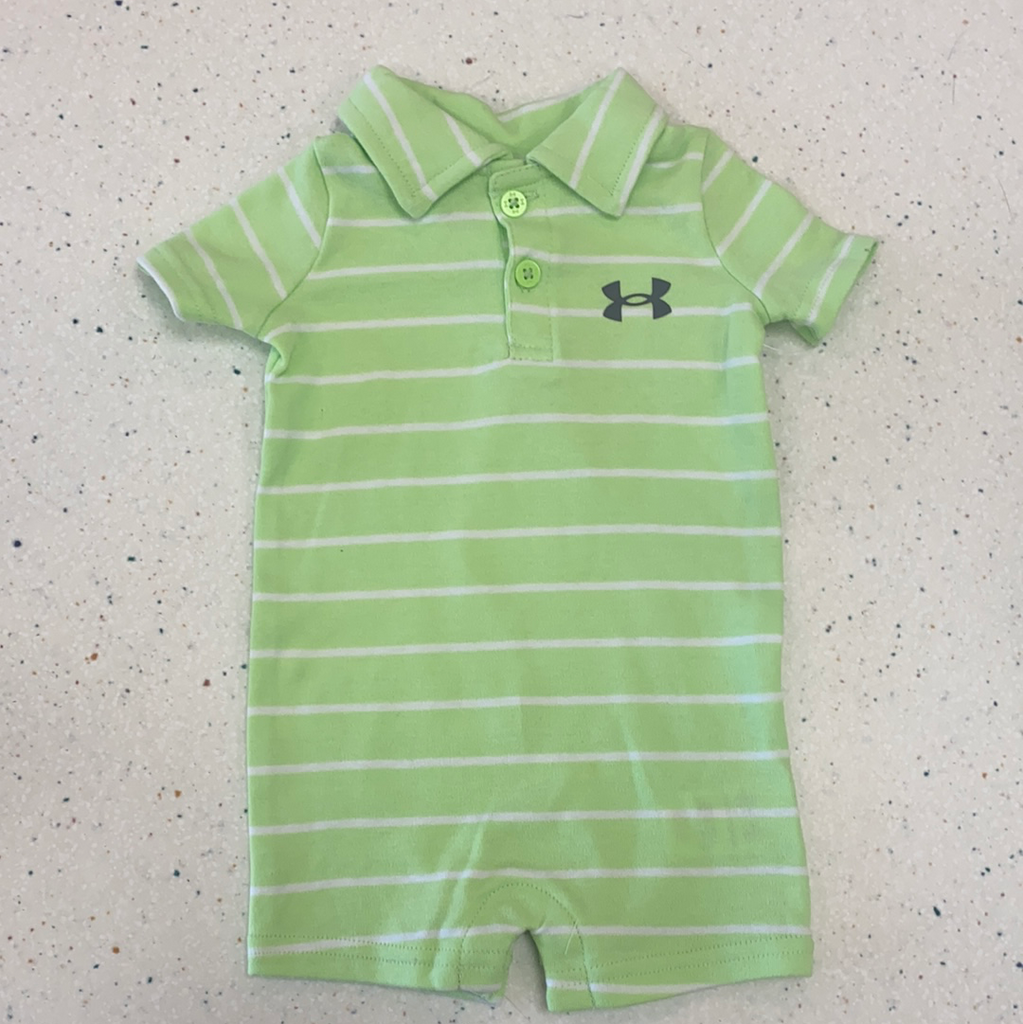Summer Lime Polo Romper  - Doodlebug's Children's Boutique