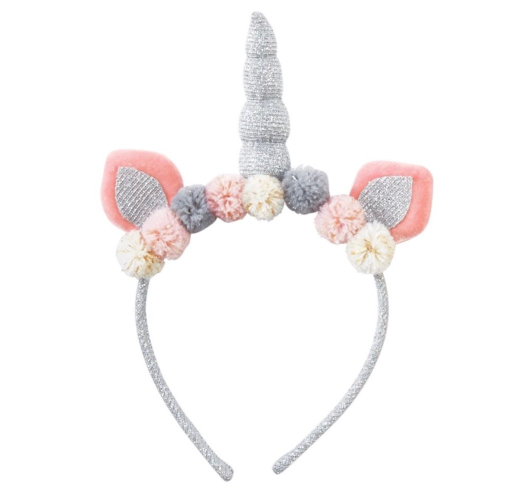Silver Unicorn Headband Silver - Doodlebug's Children's Boutique