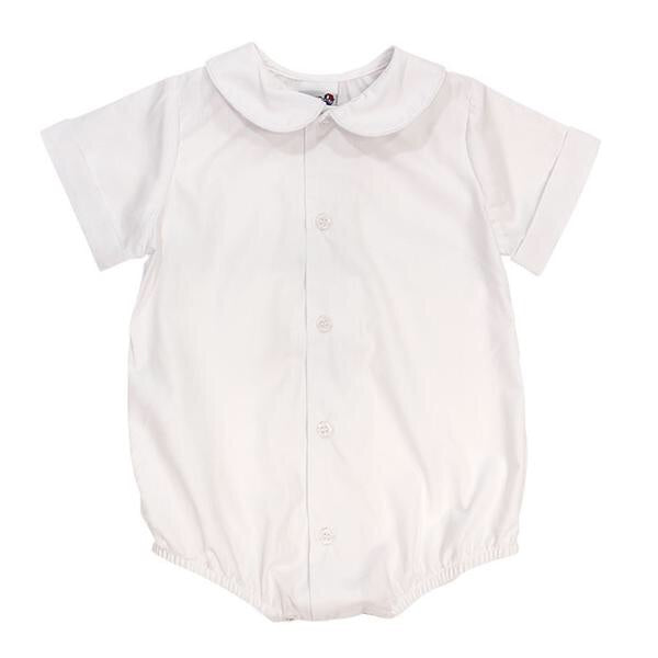 The Bailey Boys Peter Pan Collar Short Sleeve Onesie  - Doodlebug's Children's Boutique