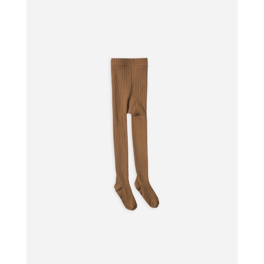 Solid Ribbed Tights in Cinnamon 0-6 months - Doodlebug's Children's Boutique