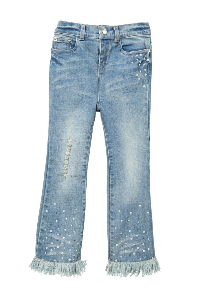 Baby Sara Frayed Bell Bottom Jeans
