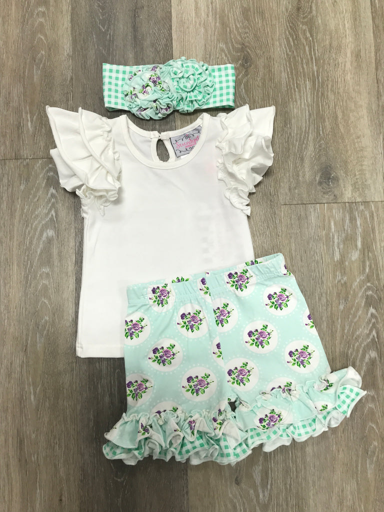 Lavender Mint Fields Set  - Doodlebug's Children's Boutique