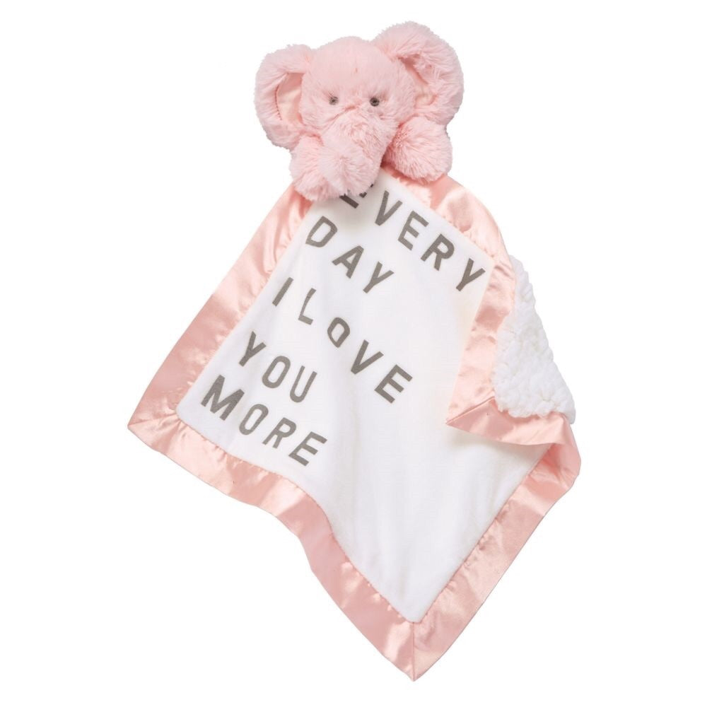Elephant Word Velour Woobie Elephant / Every day I love you more - Doodlebug's Children's Boutique