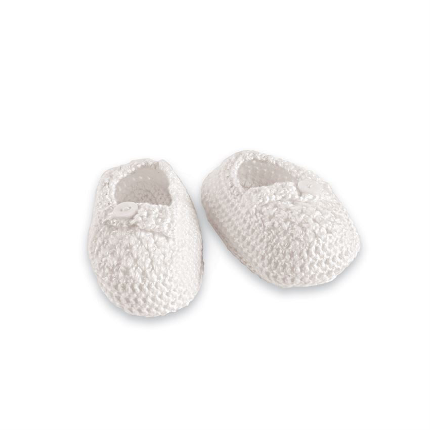 Ivory Crochet Baby Booties  - Doodlebug's Children's Boutique