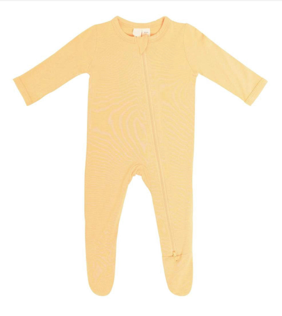 Zippered Footie in Honey  - Doodlebug's Children's Boutique